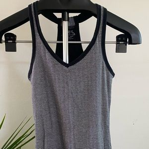 Striped Tank Top with Bra Lining